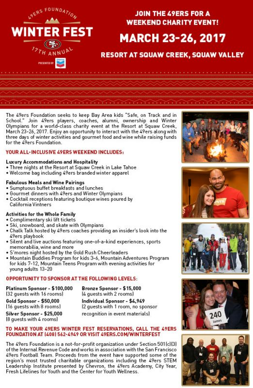 49ers Winter Festival @ Squaw Creek Inn