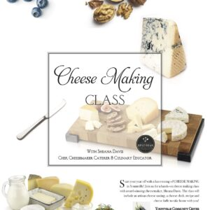 Yountville Cheese Class with Award Winning Cheesemaker Sheana Davis @ Yountville Community Center | Yountville | California | United States